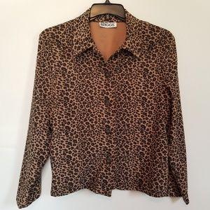 Briggs Women's Cheetah Print Button Blazer